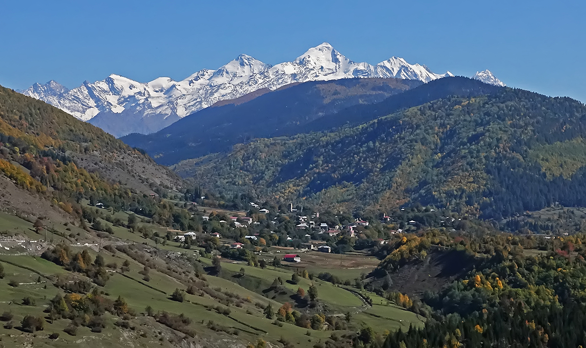 Mount Tetnuld in Svaneti