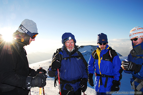 What is the atmospheric pressure at the top of Elbrus-2