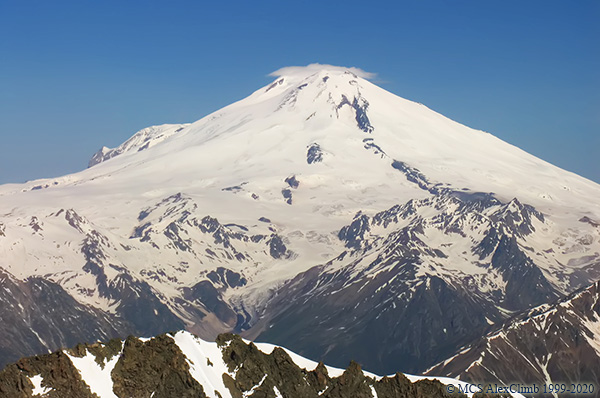 What is the atmospheric pressure at the top of Elbrus-1